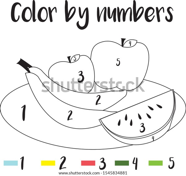 Preschool Counting Activities Coloring Page Colorful Stock Vector (Royalty  Free) 1545834881