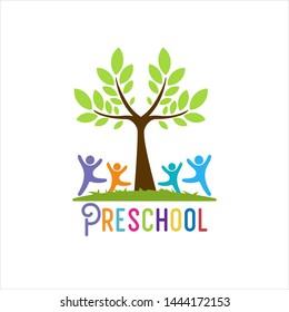 Preschool Logo Design Stock Images