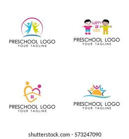 preschool logo vector