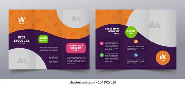 preschool tri fold playful brochure templates
