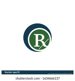 prescription icon symbol design element logo template vector eps10
