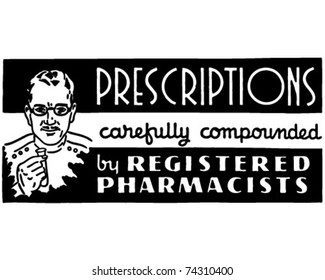 Prescriptions - Retro Ad Art Banner