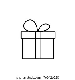 present icon illustration isolated vector