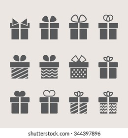 Present icons on background