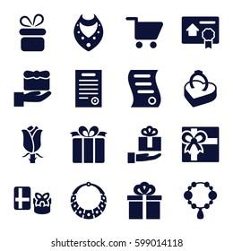 present icons set set 16 present stock vector royalty free