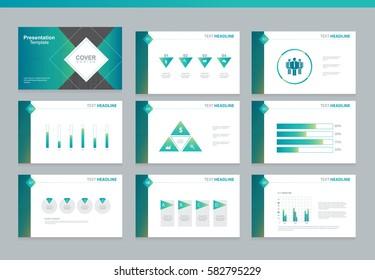 presentation background design template infographic elements stock