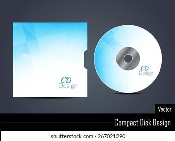 Presentation of blue color vector cd cover design.