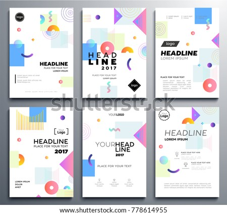 presentation booklet cover vector template a 4 stock vector royalty