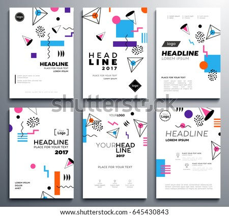 presentation booklet covers vector template a 4 stock vector