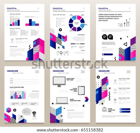Presentation Booklets Vector Template A 4 Size Stock Royalty