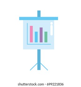 presentation business document with statistics bars graphy