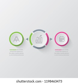 Presentation business infographic template with 2 options. Vector illustration