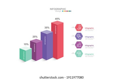 Presentation Business road map infographic template stock illustration
