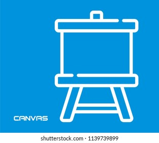 PRESENTATION CANVAS VECTOR ICON