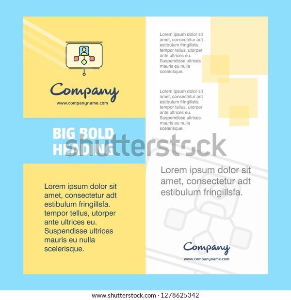 Presentation Company Brochure Title Page Design Stock Vector