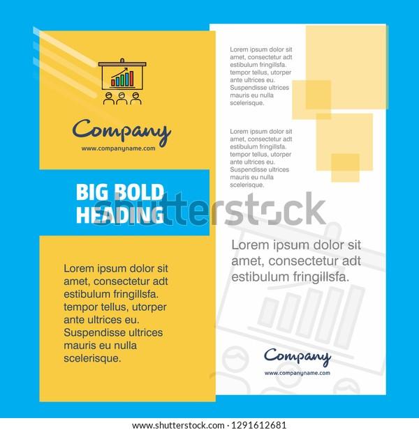 Presentation Company Brochure Title Page Design Stock Image
