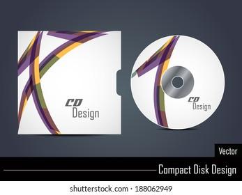Presentation of elegant colorful vector cd cover design.