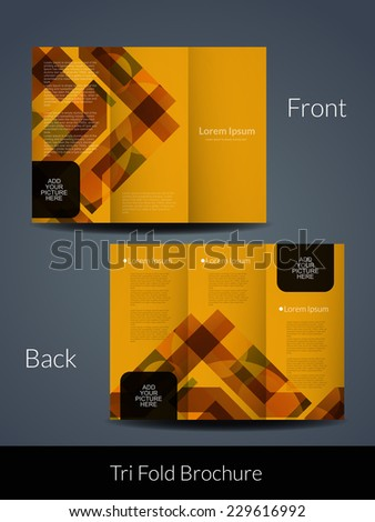 Presentation Elegant Tri Fold Brochure Design Stock Vector Royalty