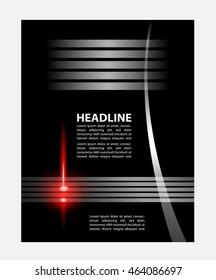 presentation of flyer design content background