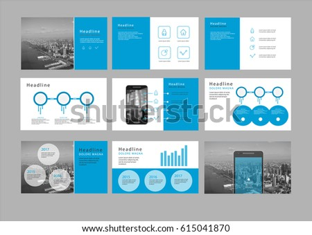 Presentation Flyer Pamphlet Brochure Template Design Stock Vector