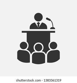 Presentation Icon. Business Activity Illustration As A Simple Vector Sign & Trendy Symbol for Design and Websites or Mobile Application.