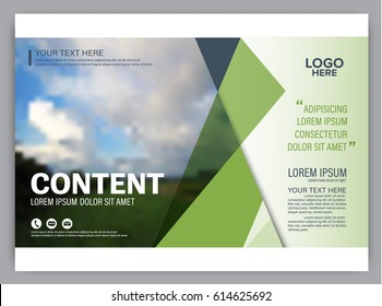 Presentation layout design template. Annual report cover page. greenery modern background. illustration vector artwork