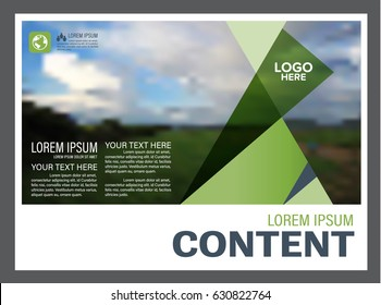 presentation layout design template annual report のベクター画像