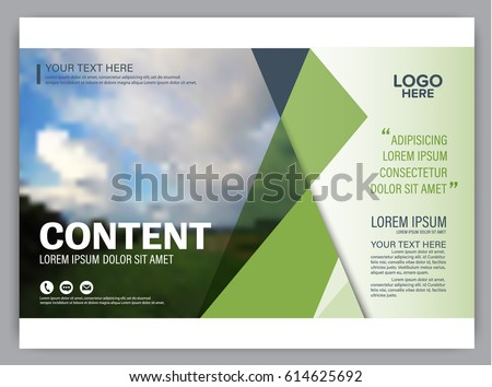 presentation layout design template annual report のベクター画像