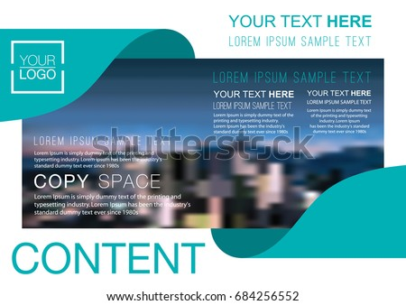 presentation layout design template business financial stock vector