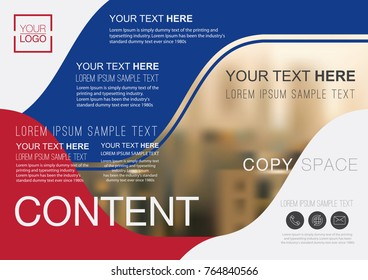 Presentation layout design template, Flyer Design, Advertising, Annual report, Banner, Business Financial for background, Building blur background, Flat style vector illustration artwork A4 size.