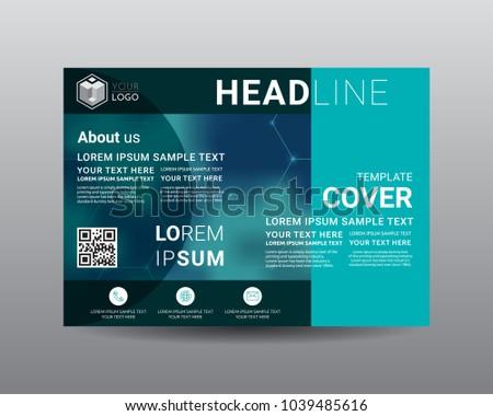 presentation layout design template flyer design stock vector