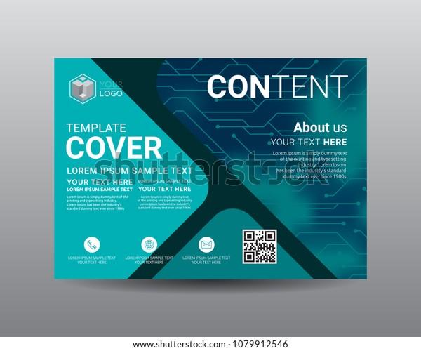 Presentation Layout Design Template Flyer Design Stock