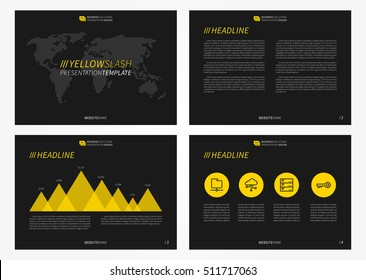 corporate presentation vector template modern powerpoint stock