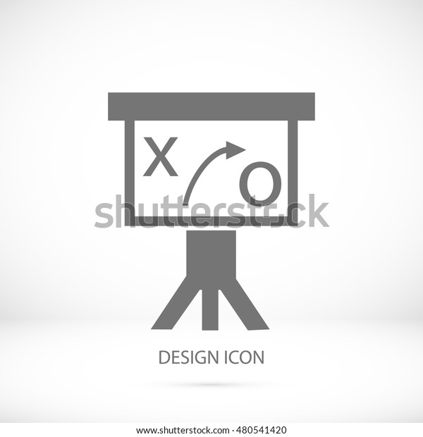 Presentation sign icon, vector best flat icon, EPS