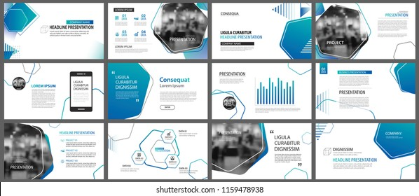 Presentation and slide layout background. Design blue and green gradient geometric template. Use for business annual report, flyer, marketing, leaflet, advertising, brochure, modern style.