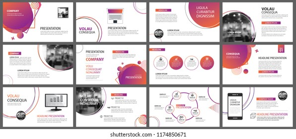 Presentation and slide layout background. Design orange and purple gradient geometric template. Use for business annual report, flyer, marketing, leaflet, advertising, brochure, modern style.