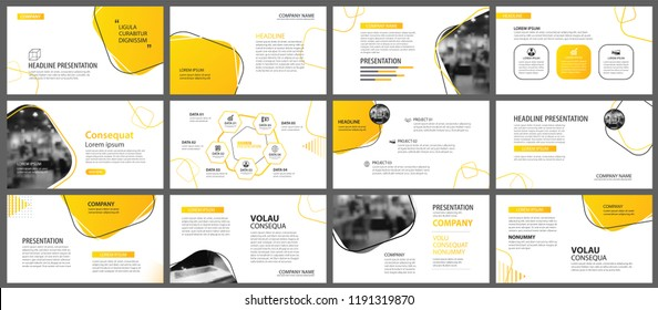 a11b8fcb8eb3c8 Presentation and slide layout background. Design yellow and orange gradient  geometric template. Use for