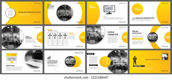 Template Powerpoint Yellow Stock Illustrations Images