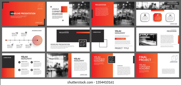 Presentation and slide layout background. Design red gradient template. Use for business annual report, flyer, marketing, leaflet, advertising, brochure, modern style.