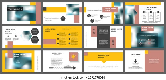 Presentation and slide layout background. Design yellow geometric template. Use for business annual report, flyer, marketing, leaflet, advertising, brochure, modern style.