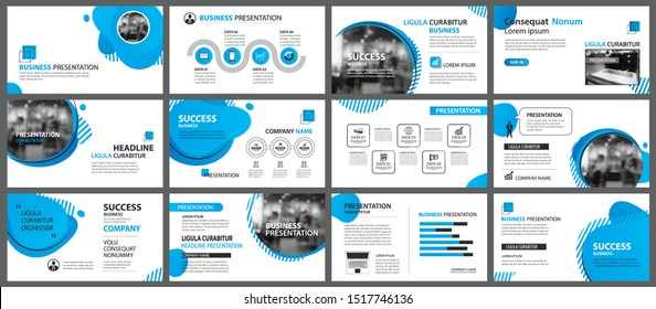 Presentation and slide layout background. Design blue gradient geometric template. Use for business annual report, flyer, marketing, leaflet, advertising, brochure, modern style.