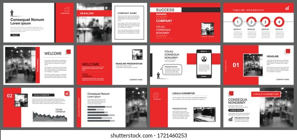 Presentation and slide layout template. Design red geometric background. Use for business annual report, flyer, marketing, leaflet, advertising, brochure, modern style.