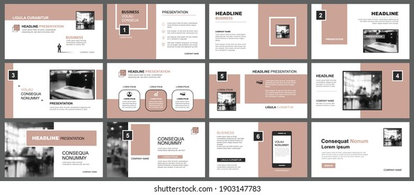 Presentation and slide layout template. Design old rose pastel background. Use for business annual report, flyer, marketing, leaflet, advertising, brochure, modern style.