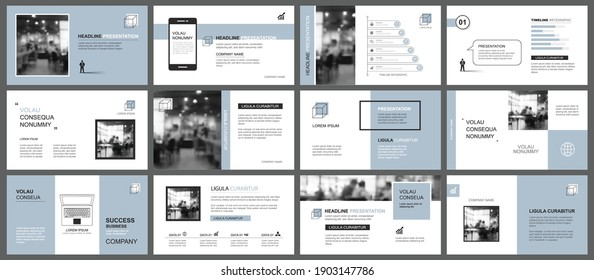 Presentation and slide layout template. Design blue pastel background. Use for business annual report, flyer, marketing, leaflet, advertising, brochure, modern style.
