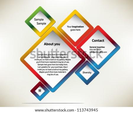 presentation slide template editable your choosing のベクター画像