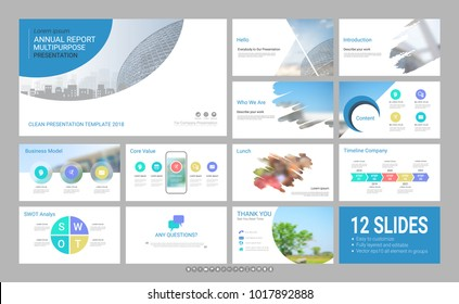 Presentation slide template for your company with infographic elements, design cover all styles and creative used to provide your audience with a quick overview of your business plan idea to investor.