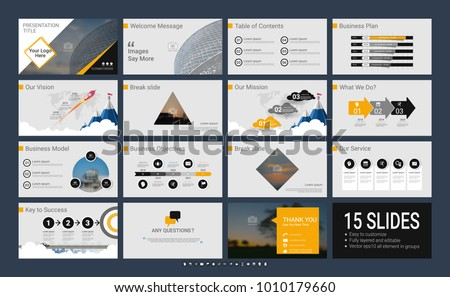 presentation slide template your company infographic のベクター画像