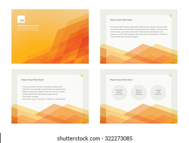 Presentation slides template design/ Brochure cover and page layout template/ Business card and stationery design Abstract background pattern/ Web banner design/