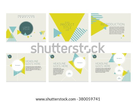 presentation slides template design brochure cover のベクター画像