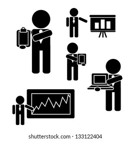 Presentation stick figures. eps 8 vector, grouped for easy editing. no open shapes or paths.